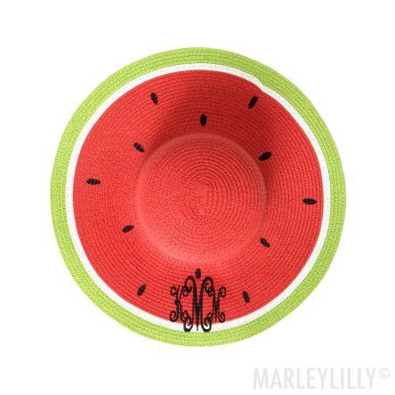 FWU-monogrammed-watermelon-hat